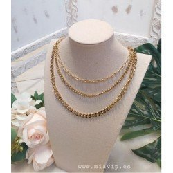 Collar triple cadena acero