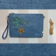 Bolso de mano/cruzado three stars blue