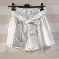 Short lazo blanco