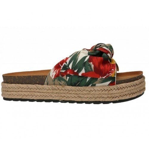 Sandalias estampado tropical